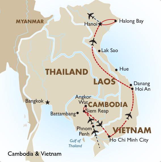 Cambodia and Vietnam Tour Cambodia Travel – Travel Map Of Vietnam