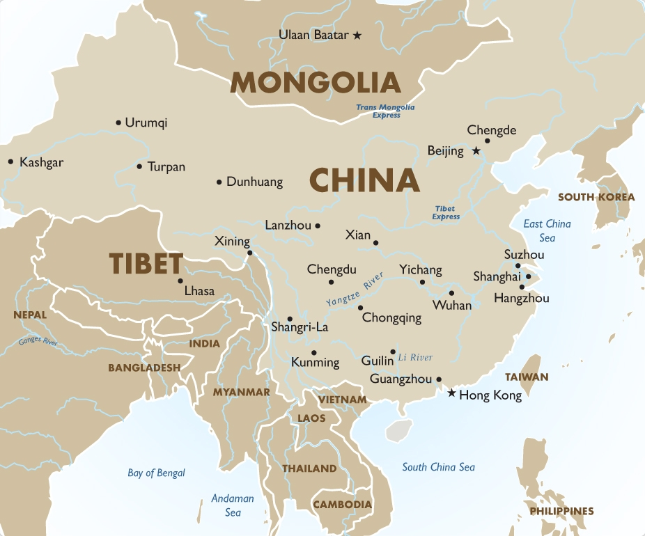 China - Geography and Maps | Goway Travel on