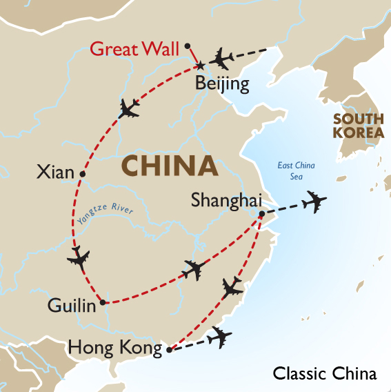 Great Wall Of China Map View.Classic China China Tours Goway Travel