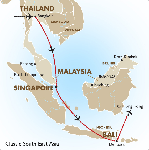 Classic south east asia asia vacation goway travel itinerary view trip map gumiabroncs Image collections