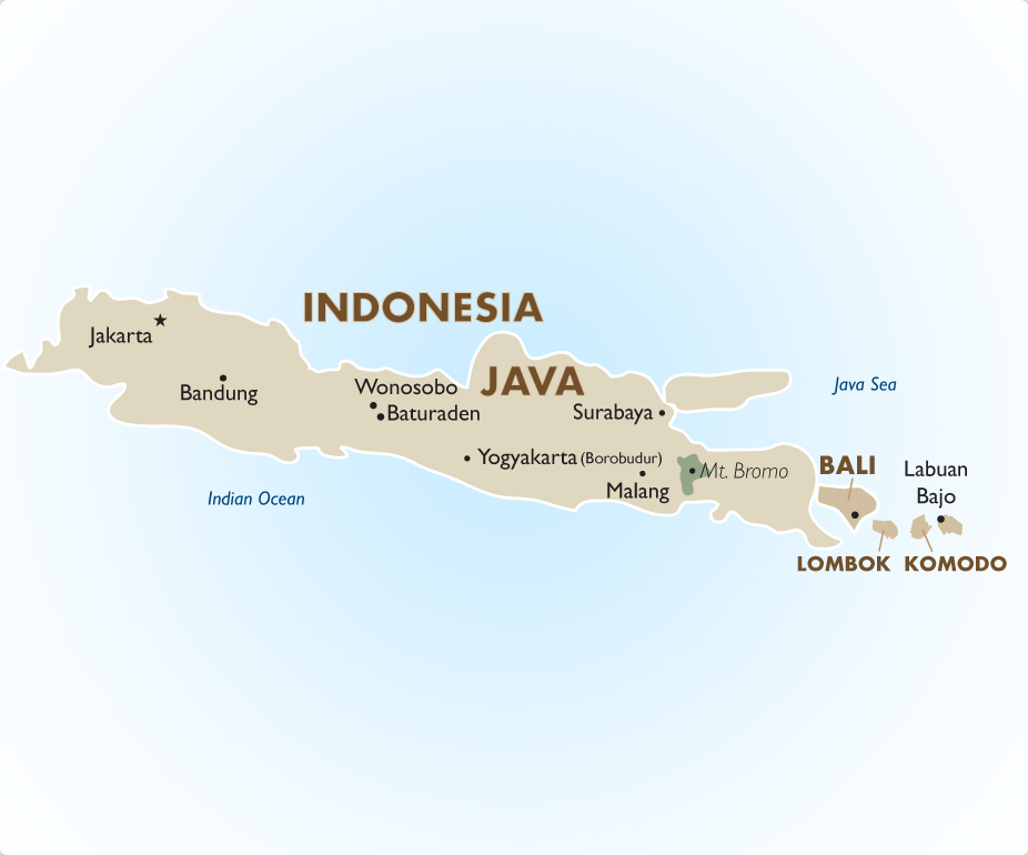 Indonesia Vacations Tours and Travel Packages 201718 – Indonesia Tourist Attractions Map
