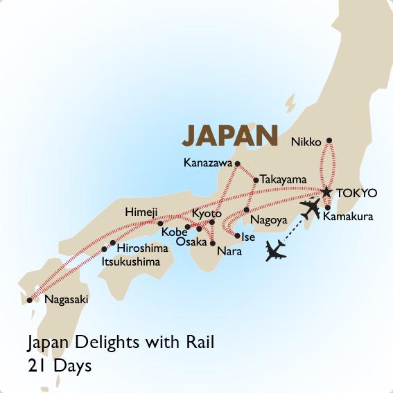 Japan Delights with Rail Japan Tour