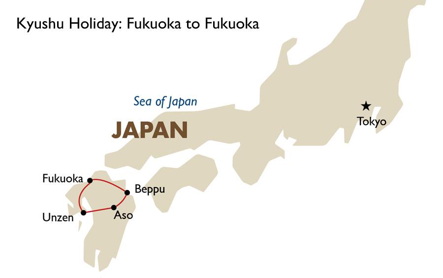 Kyushu Holiday Japan Travel Packages Goway Travel - Japan map beppu