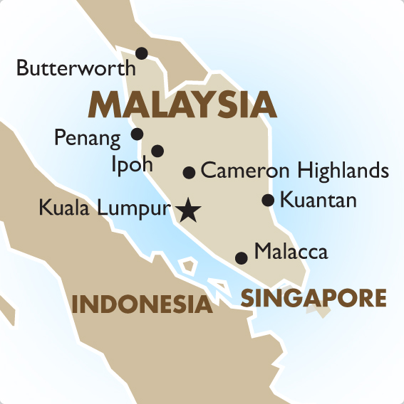 Malaysia Map: Malaysia Vacations, Tours & Travel Packages - 2019/20