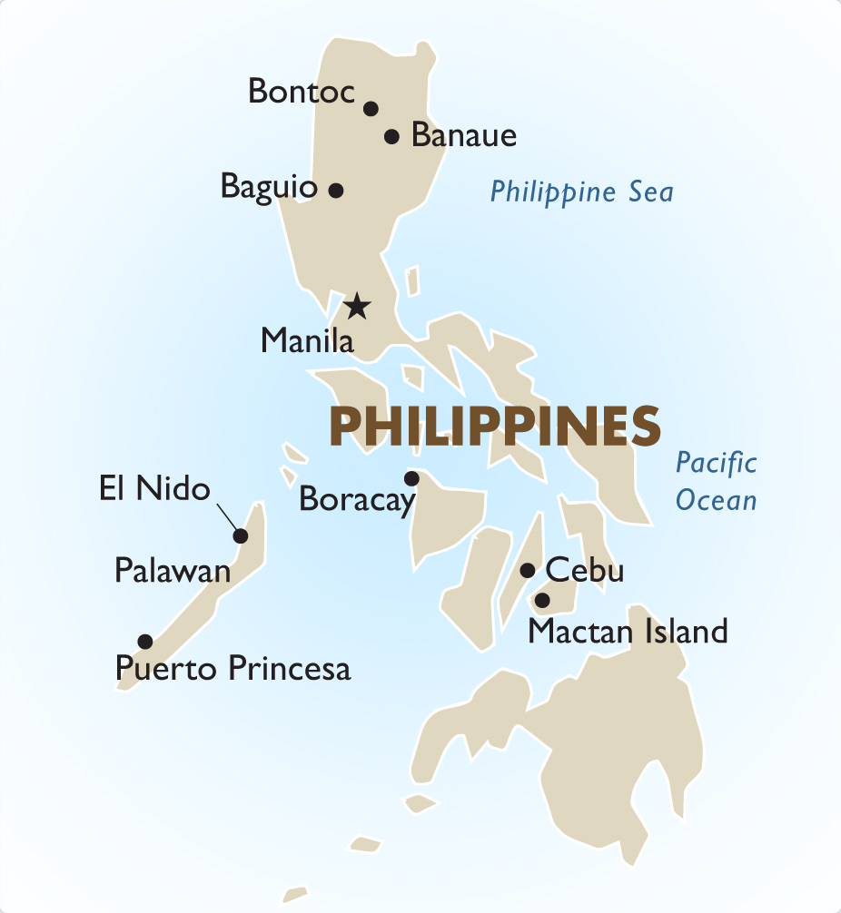 Philippines Vacation Tours and Travel Packages 201718 – Philippines Tourist Attractions Map