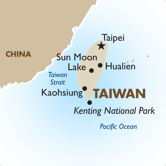 Taiwan Vacations Tours and Travel Deals 201718 – Taiwan Map For Tourist