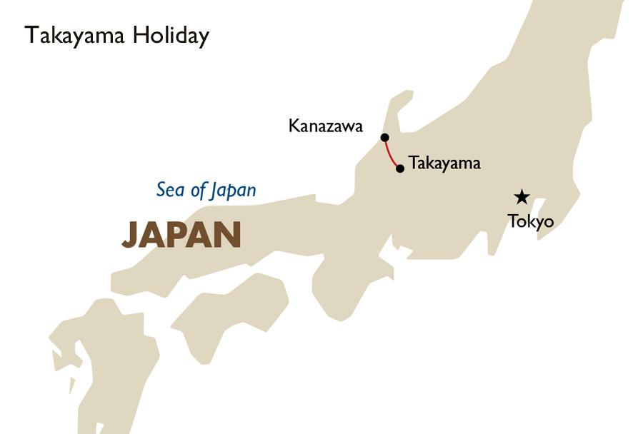 Takayama Holiday Japan Travel Packages Goway Travel - Japan map kanazawa