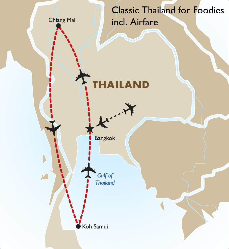 clic thailand for foodies incl airfare