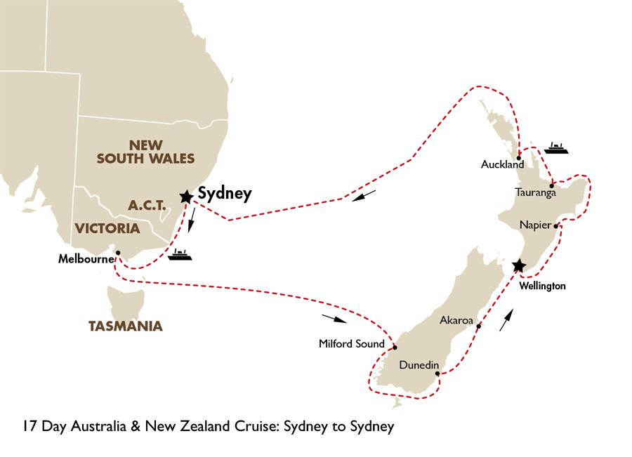 17 Day Australia New Zealand Cruise Sydney To
