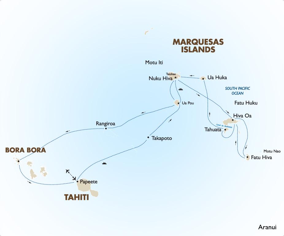 South pacfic cruise aranui 3 ship goway for Art cuisine tahiti