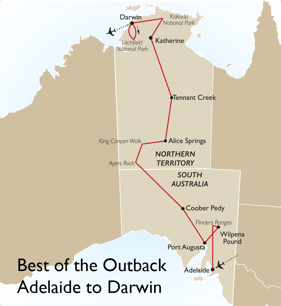 Australia South Pacific: Best Of The Outback Adelaide To Darwin