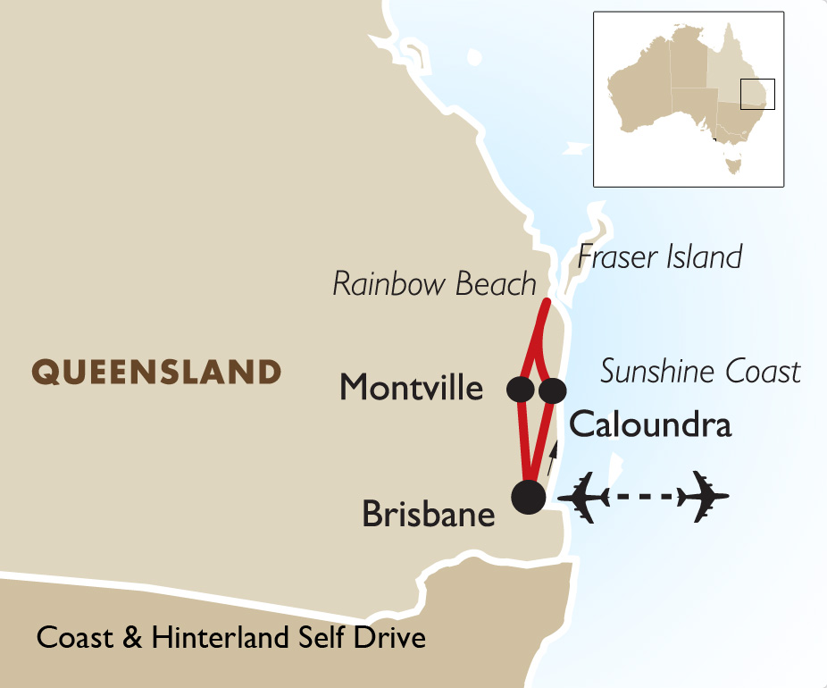 Coast & Hinterland Self Drive Australia Vacation