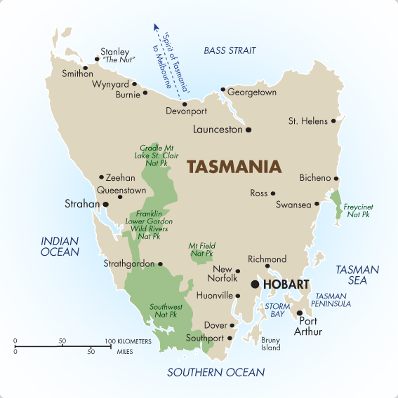 Tasmania australia australia vacations 201819 goway travel tasmania map gumiabroncs Image collections