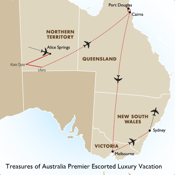 Map Of Australia Port Douglas.Treasures Of Australia Australia Vacations Goway Travel