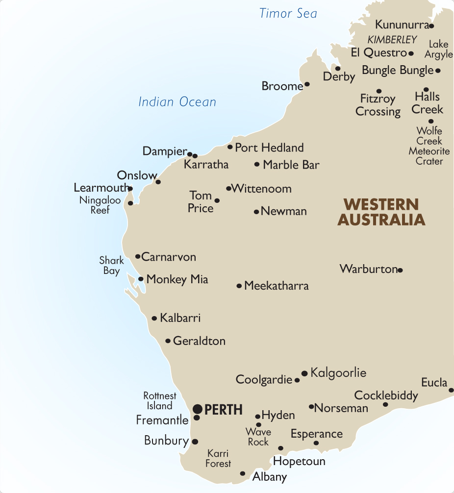 Western Australia Australia Vacations Goway Travel - Map of western australia with towns