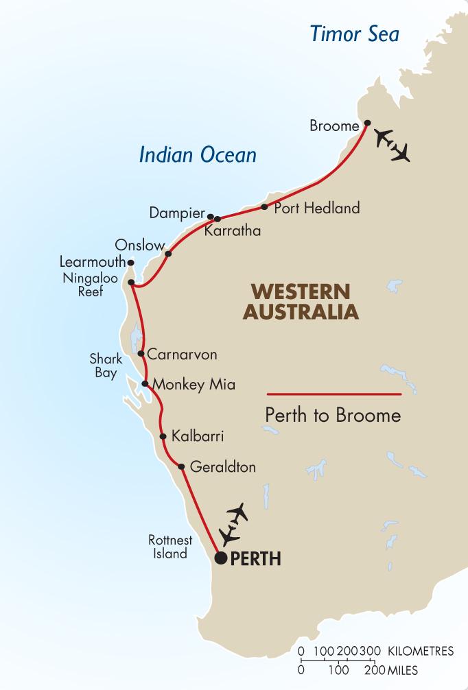 Perth to Broome Self Drive Australia Vacation