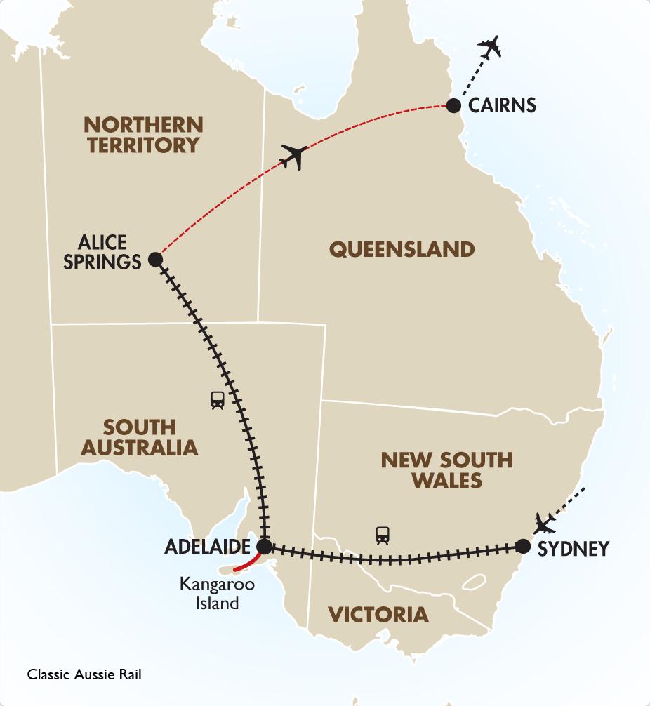 Classic Aussie Rail Spectacular Australian Vacations