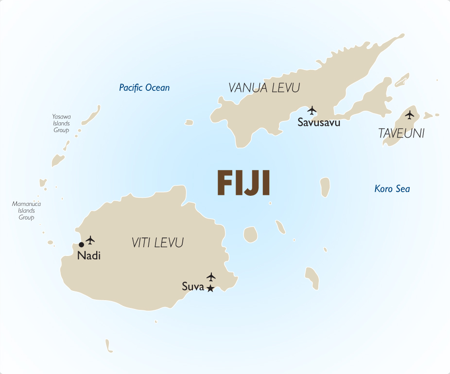 Fiji vacations honeymoons romantic getaways 201819 goway fiji map2 gumiabroncs Gallery