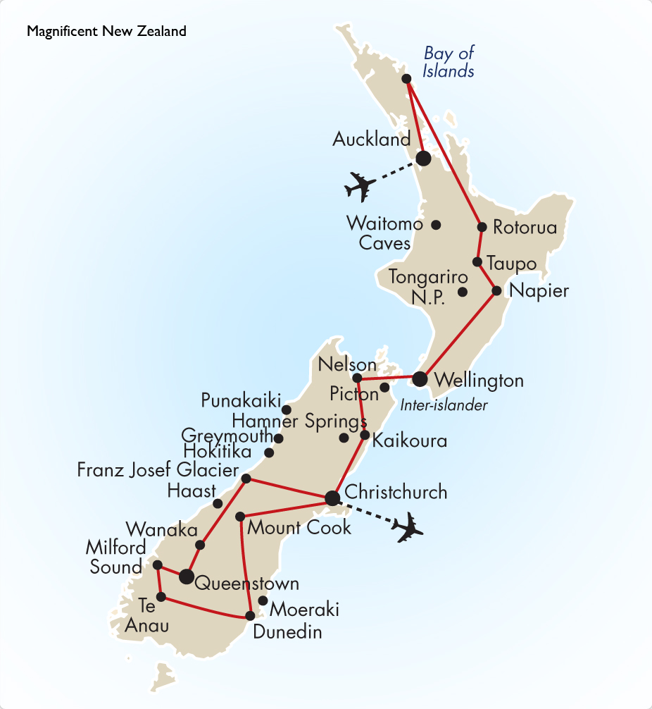Map Of New Zealand Queenstown.Magnificent New Zealand New Zealand Vacation Goway Travel