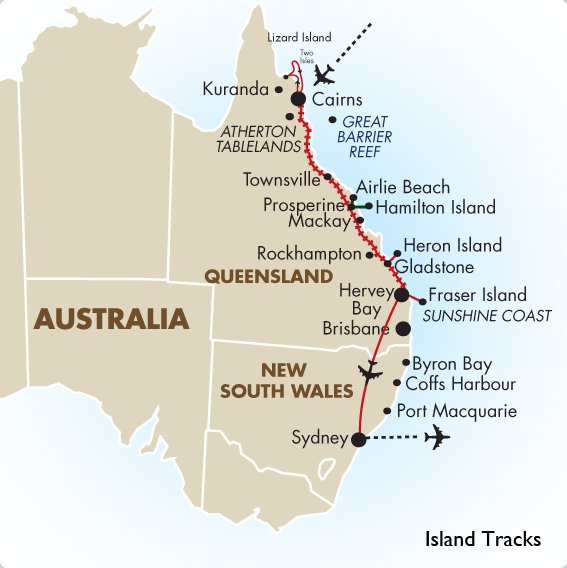Island Tracks Australia Vacations Amp Tour Packages