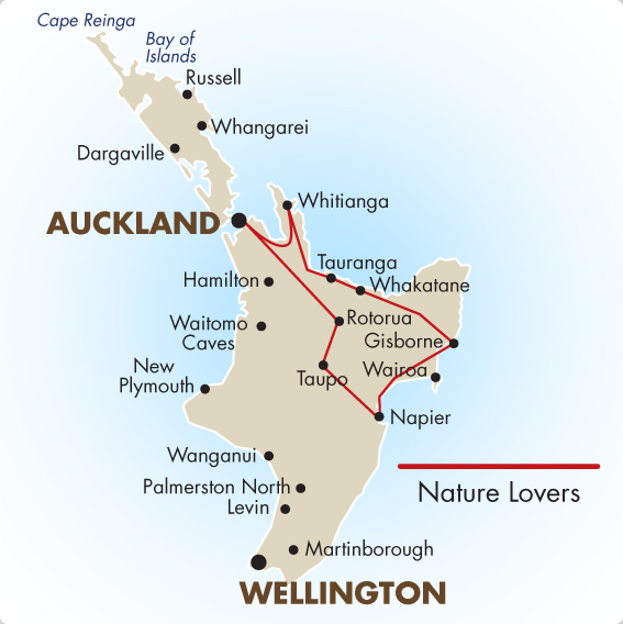 trips driving itineraries north island auckland whakatane napier