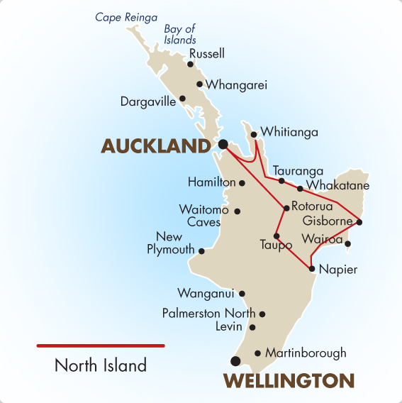North Island New Zealand Self Drive Tour Goway