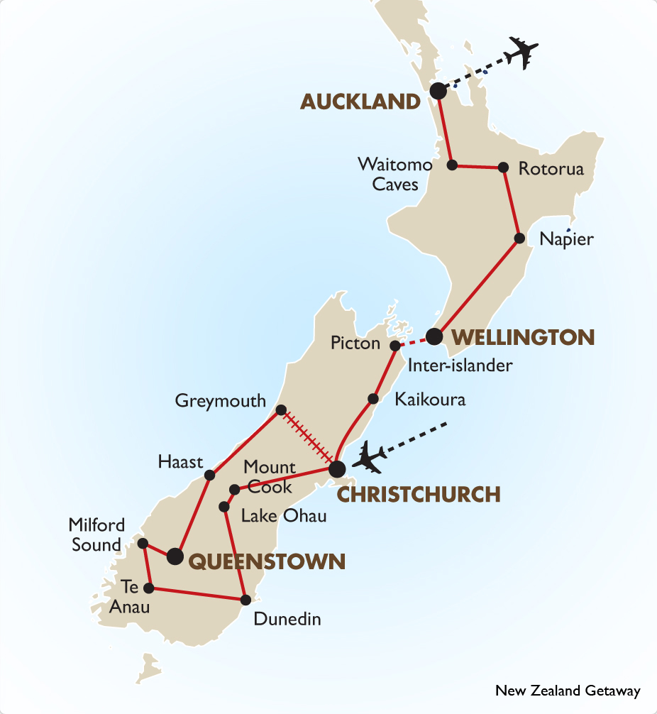 Image result for new zealand trip map
