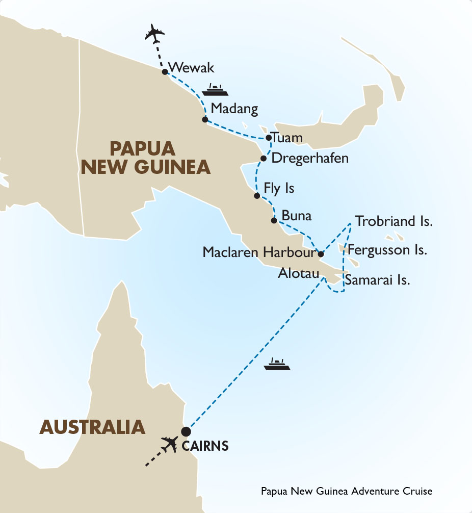 Map Of Australia New Zealand And Papua New Guinea.Papua New Guinea Cruise Papua New Guinea Tours Goway Travel