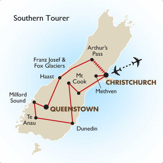New Zealand Bus Tours Southern Tourer Premier Luxury Vacation – New Zealand Tourist Map South Island
