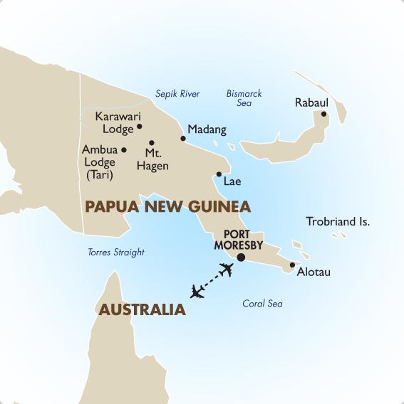 Papua New Guinea Geography Maps Papua New Guinea Tours Goway - Papua new guinea map