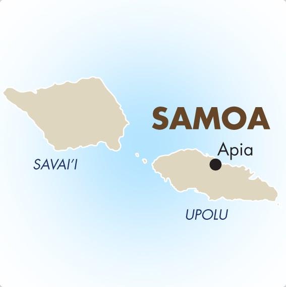 samoa islands map