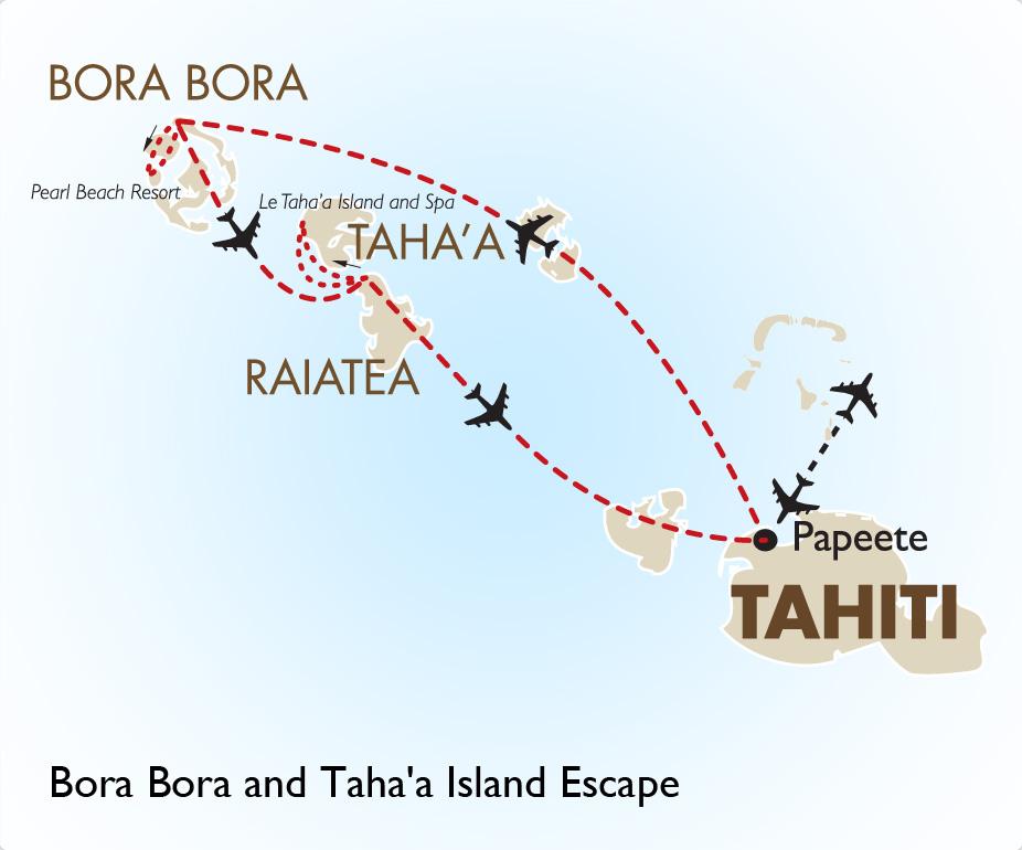 how to get to bora bora from australia