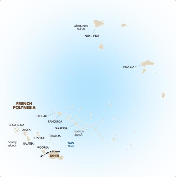 Tahiti Vacations Honeymoons Romantic Getaways Goway - French polynesia map