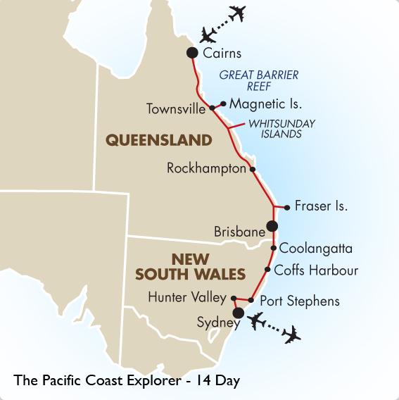 Brisbane to hunter valley distance