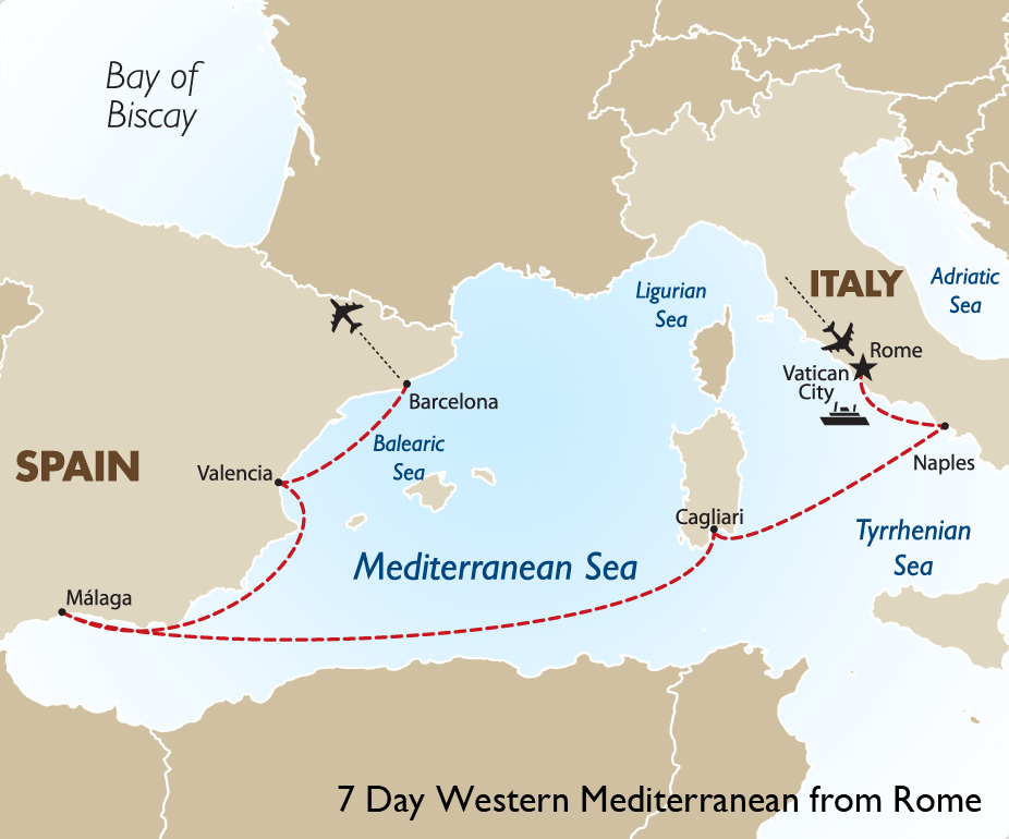 7 Night Western Mediterranean Cruise Rome To Barcelona