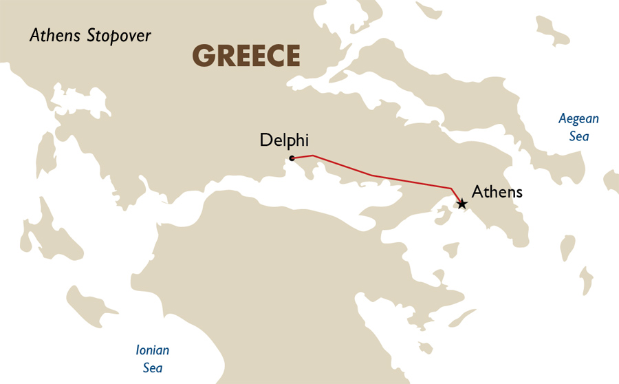 Itinerary View Trip Map Athens Stopover