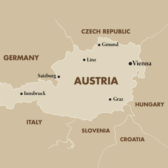 Austria Vacations Tours Travel Packages 201718 – Lichtenstein Germany Map
