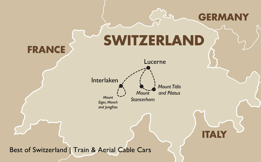 best of switzerland train aerial cable cars