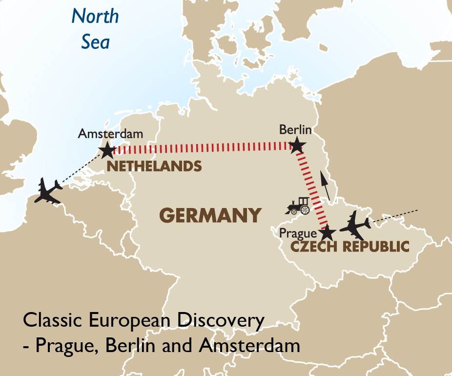 Map Of Germany And Amsterdam.Classic European Discovery European Tours Goway Travel