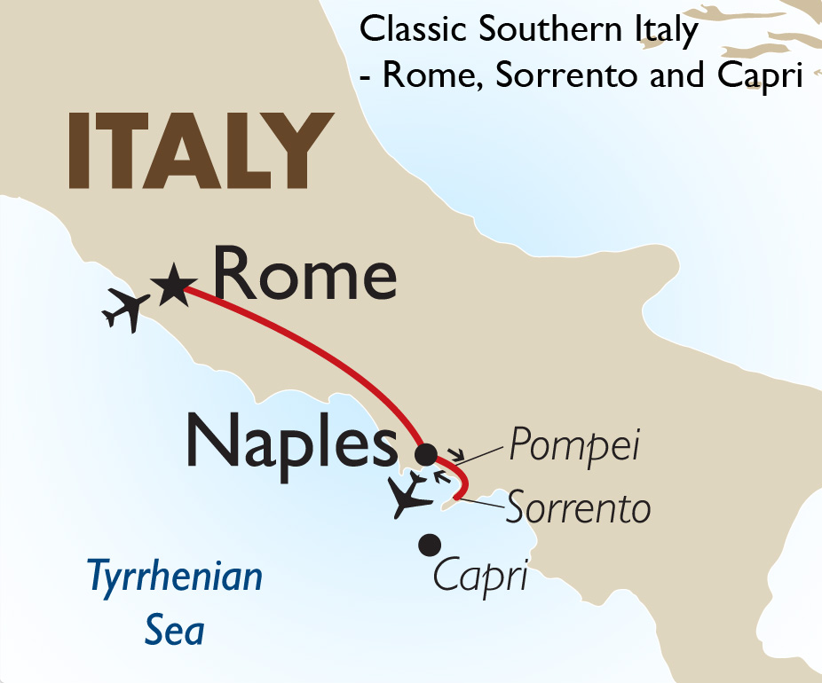 Classic Southern Italy Rome Sorrento And Capri Goway