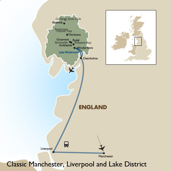 Manchester World Map.Manchester Liverpool Lake District England Vacation Goway