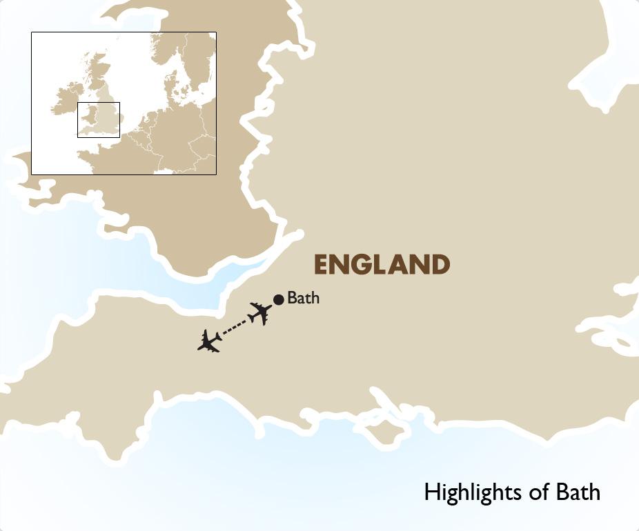 Map Of England Bath.Highlights Of Bath