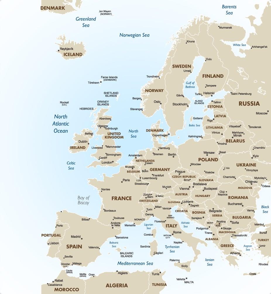 europe map full