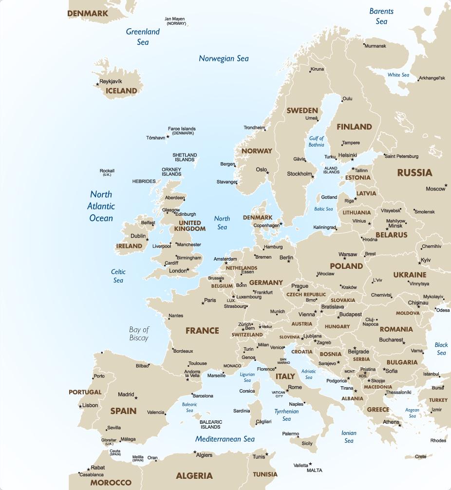 Map Of Uk In Europe.Uk Europe The Mediterranean Goway Travel