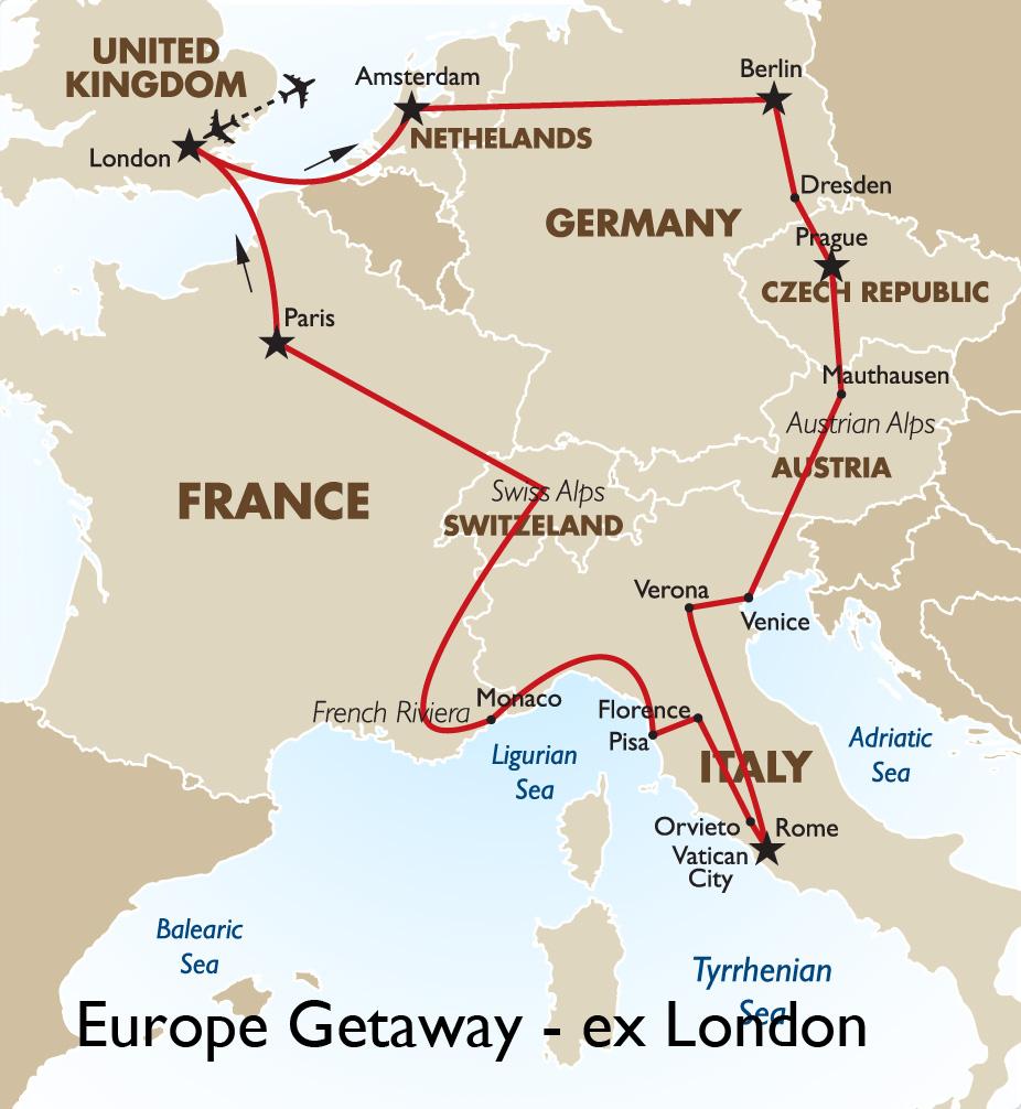 Europe Getaway Ex London