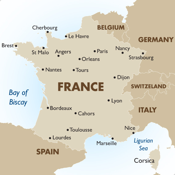 France Geography Maps Goway Travel