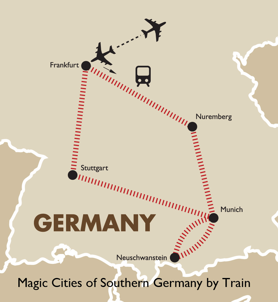 Map Of Southern Germany With Cities.Southern Germany By Train German Vacations Goway Travel