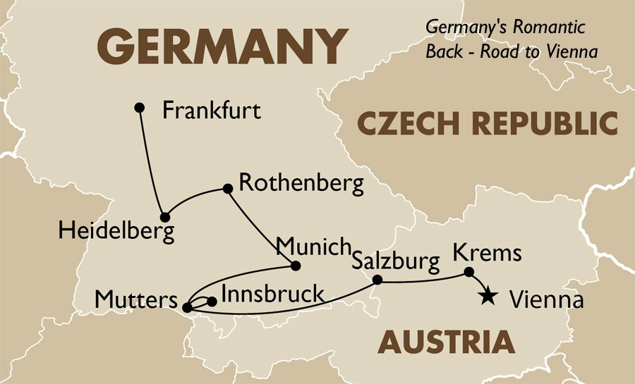 Germanys Romantic Back Germany Tours Goway Travel - Germany map romantic road