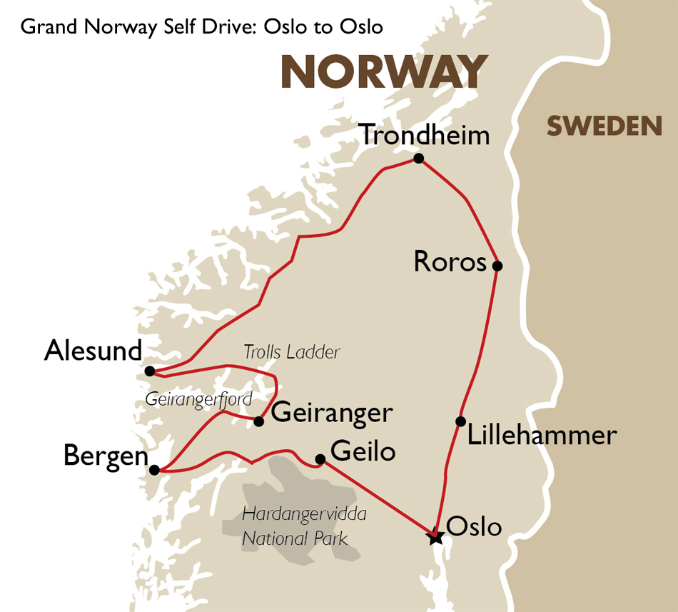 Grand Norway Self Drive Norway Tours