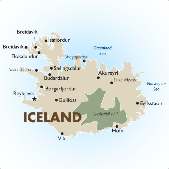Iceland Tours and Trips – Iceland Travel Map